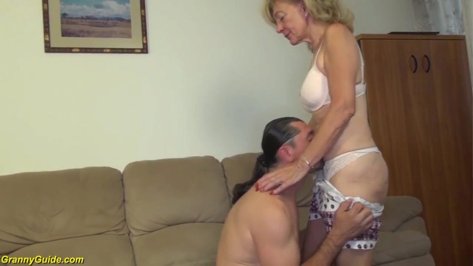 81 years older mamma group-fucked by sonnie bizarre lascivious 81 years elder slim grandmother with saggy scoops receives rough big cock pumped by her sonnie