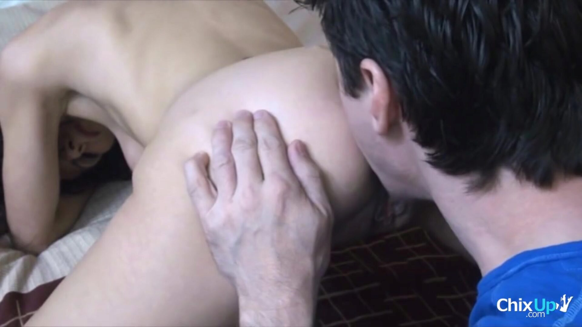 Amateur wifey pumped buttfuck 1st time