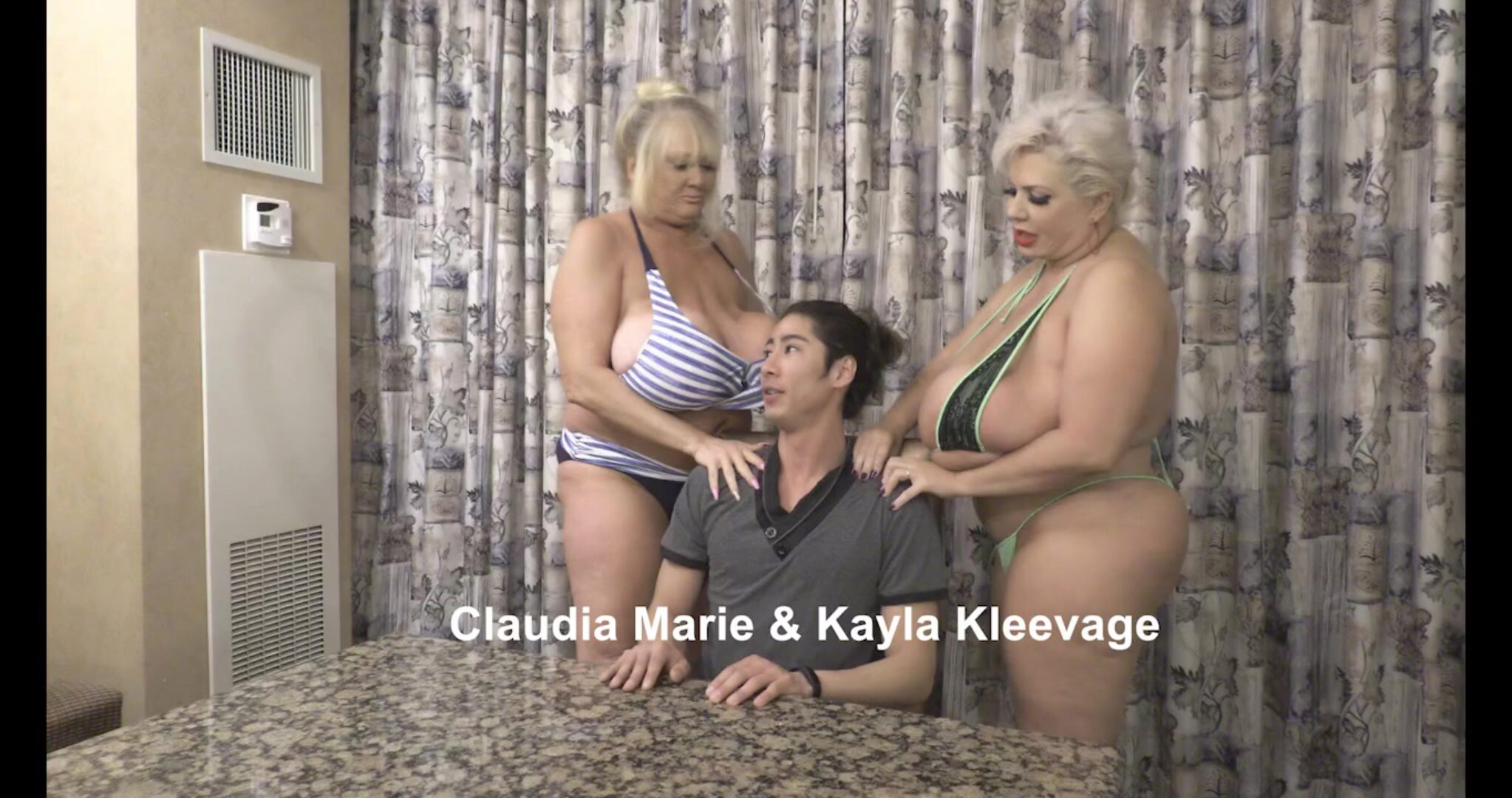 Boy Fucks Saggy Tit Fat Ass Prostitutes Kayla Kleevage and Claudia Marie banged rock-hard by a juvenile lad