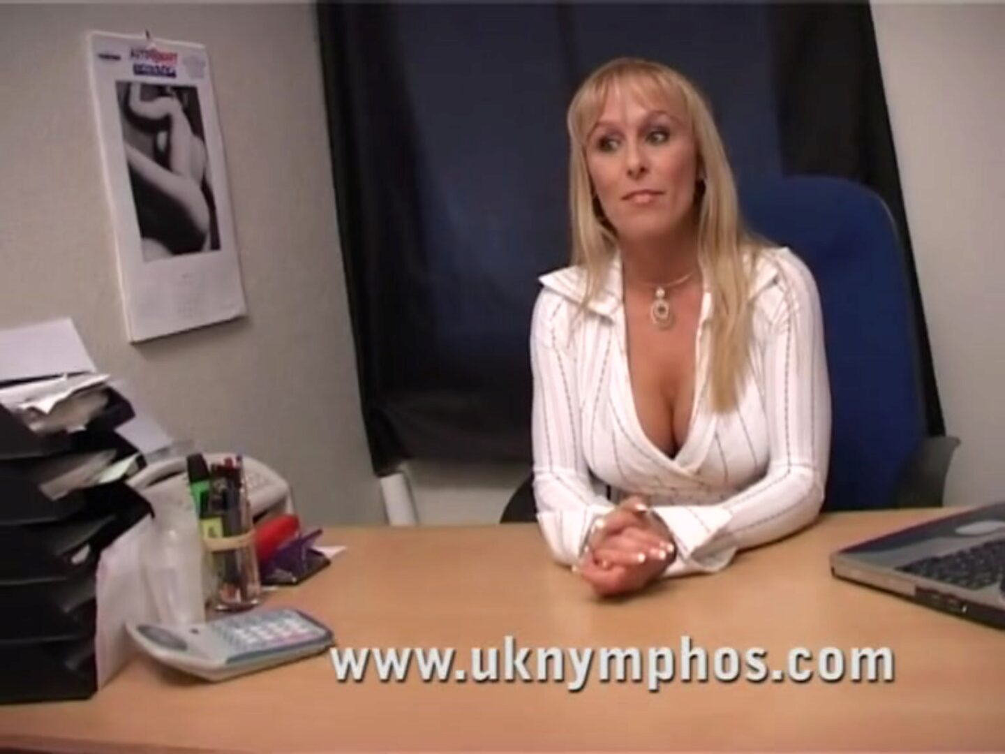 English mother I'd like to fuck in the office Gorgeous MILF chantelle lures the lad in the office in advance of engulfing and fucking him, taking his jizm in her mouth