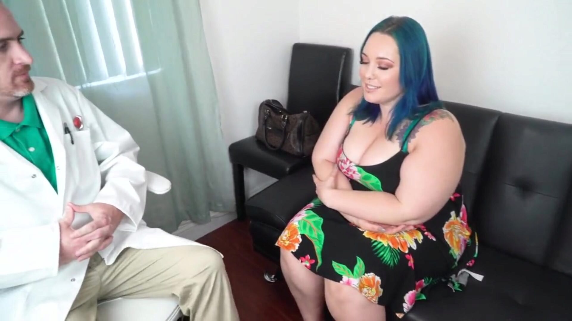 Beautiful Blue Haired BBW Gets an Anal Checkup