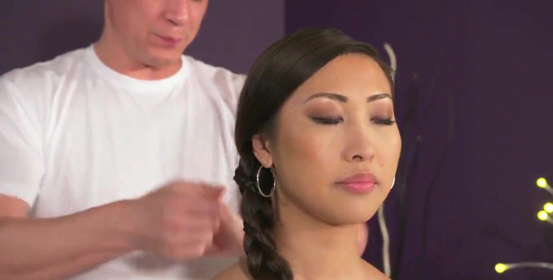 Massage Rooms, Big inborn titties Asian hotty is spraying
