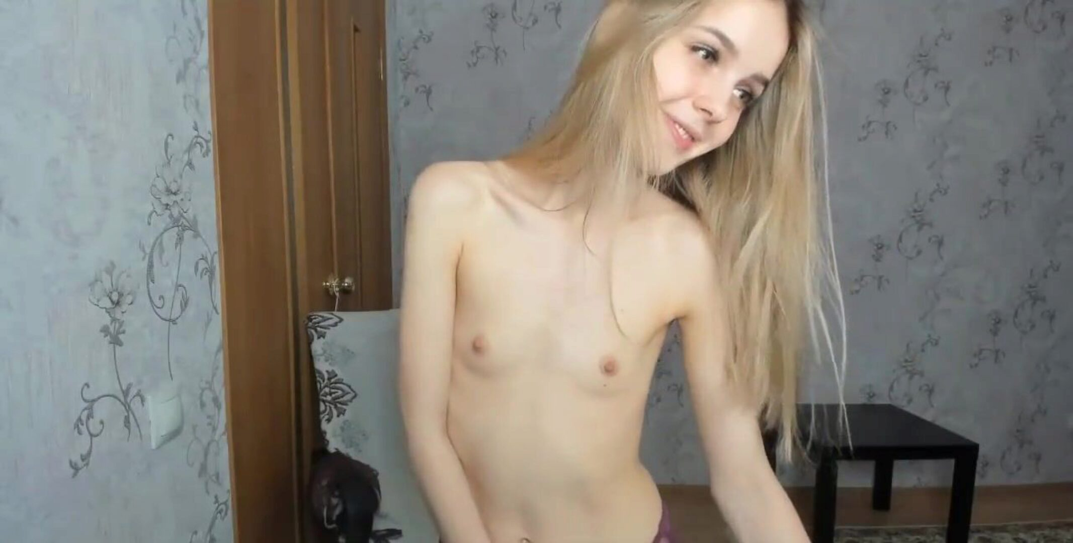 Thin Teen Oils Herself Up And Lets Strangers Give Her Orgasms