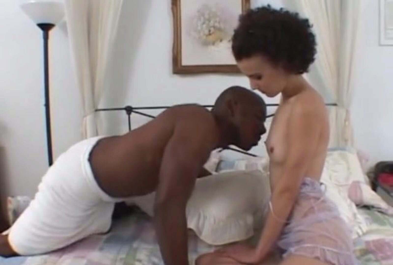 Young wifey cheats with 14 inch ebony stud
