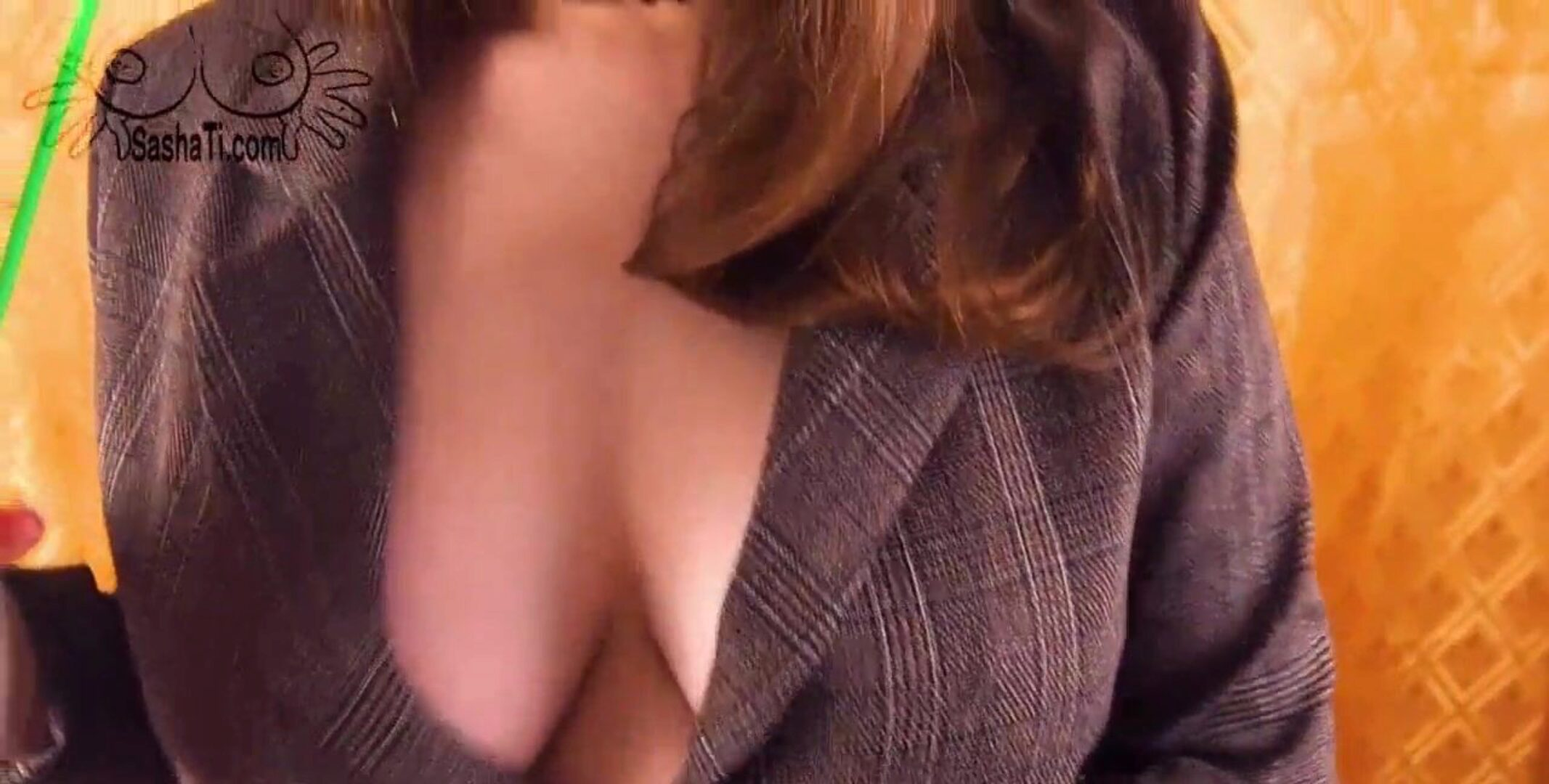 REAL!! Big Tits Secretary Hard Fucking with Young Boss and Cum on Pussy