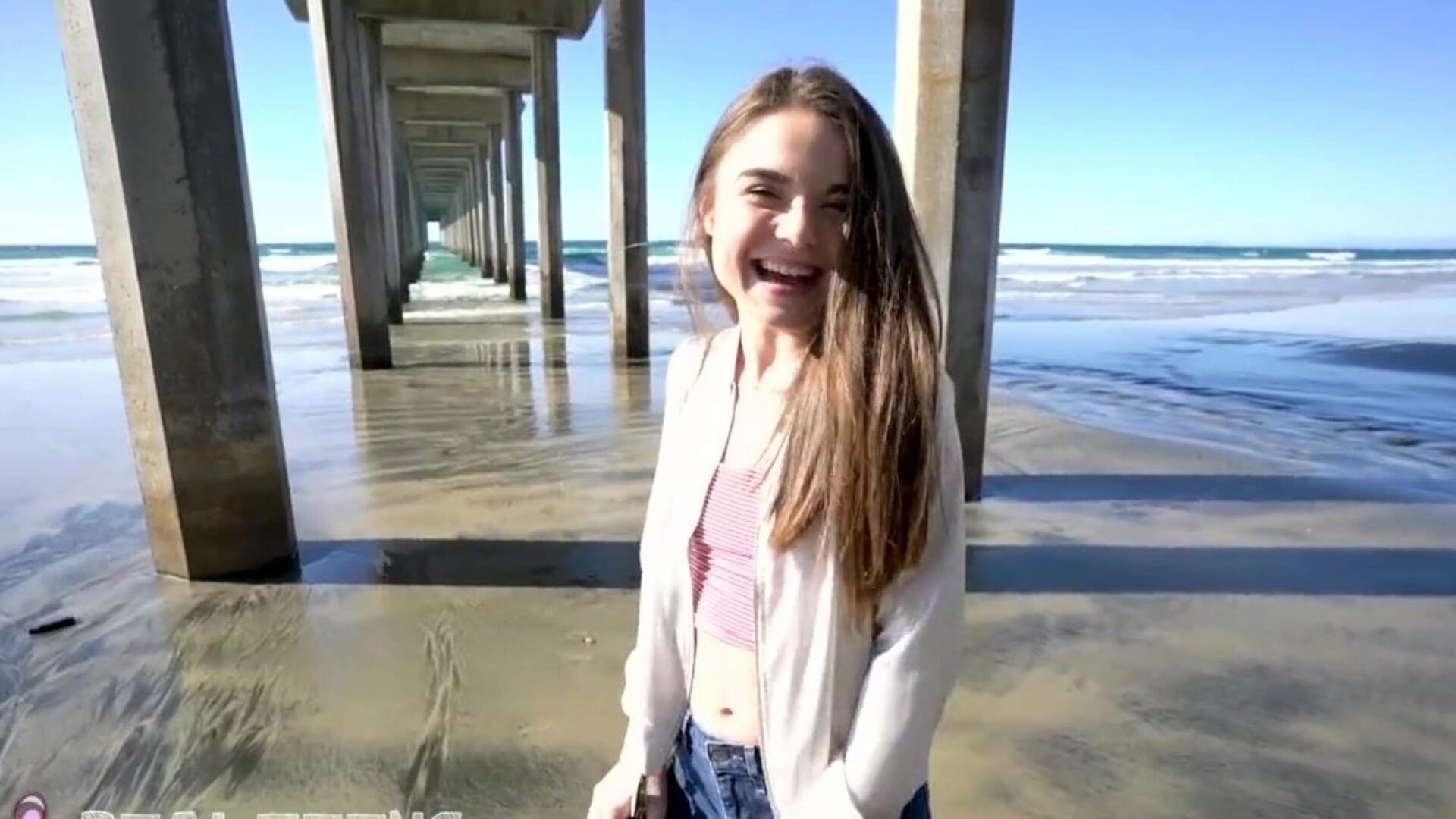 Real Teens - New gal Megan Marx acquires naughty at the beach