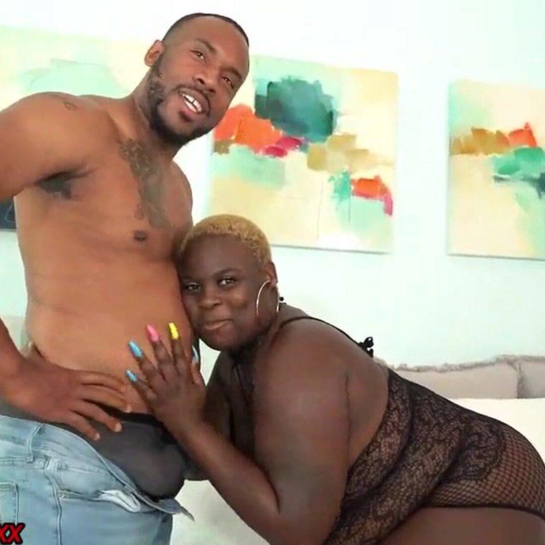 Ebony Homemade Riding Dick